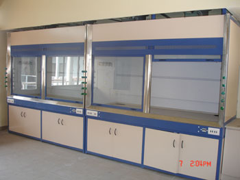 Fume hood,Island benches ,work benches,instruments benchsink